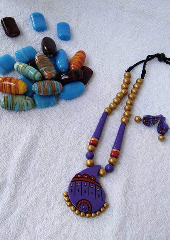 Customized Terracotta Jewellery Violet ARRS Silks