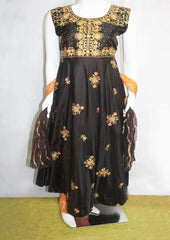 Dark Brown With Orange Readymade Salwar-FF14956 ARRS Silks
