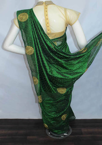 Dark Green Designer Saree-FO6226 ARRS Silks