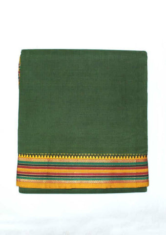 Dark Green Pure Cotton 9.5 yards Saree - FP54190 ARRS Silks