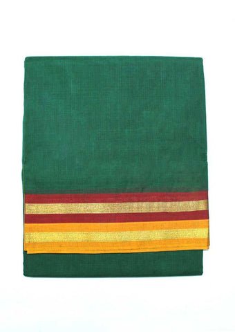 Dark Green  Pure Cotton 9.5 yards Saree - FP54195 ARRS Silks