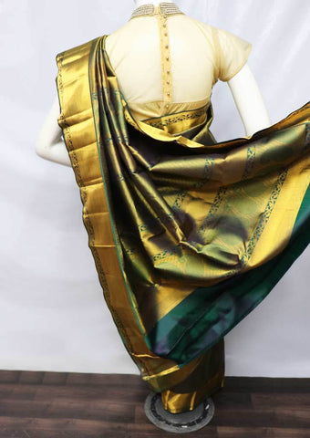 Dark Green Wedding Silk Saree - 9KA4290 ARRS Silks