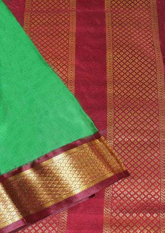 Dark Green with Dark Maroon Coloured 9.5 Yards Silk Saree - FP53515 ARRS Silks