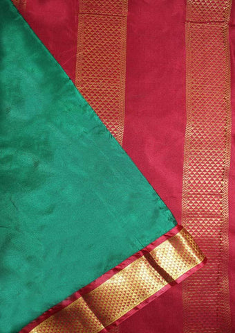 Dark Green with Red Coloured 9.5 Yards Silk Saree - FP53501 ARRS Silks