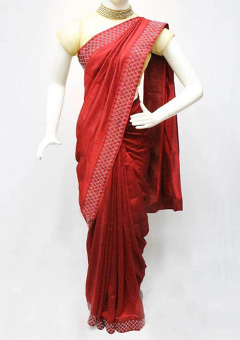 Dark Maroon Designer Saree - FS31720 ARRS Silks Salem