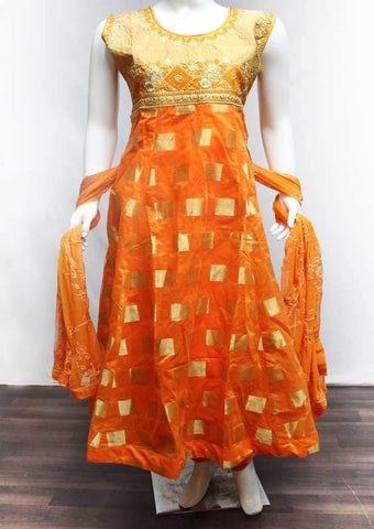 Dark Orange Readymade Salwar-FR74422 ARRS Silks