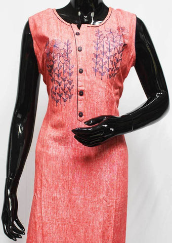 Dark Peach Color Kurti - FR13733 ARRS Silks