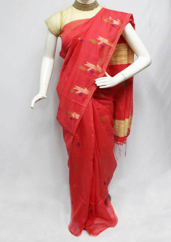 Dark Peach Color Linen Saree - FP9893 ARRS Silks