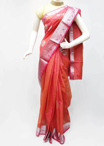Dark Peach color Silk Cotton Saree - FL59431 ARRS Silks