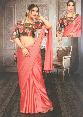 Dark Peach Fancy Saree-FS32452 ARRS Silks