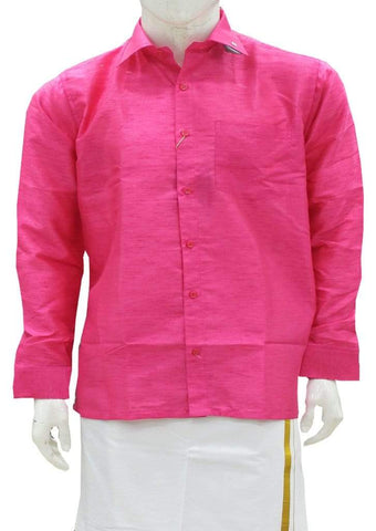dark pink Full Hand Silk Cotton ARRS Silks Salem