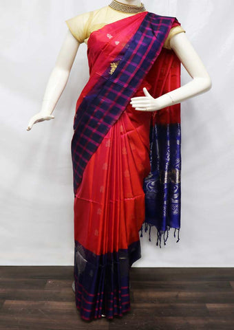 Dark Pink Soft Silk Saree - 9KA814 ARRS Silks
