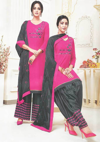 Dark Pink Unstitched Chudi - FR87541 ARRS Silks