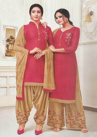 Dark Pink Unstitched Chudi - FR87553 ARRS Silks