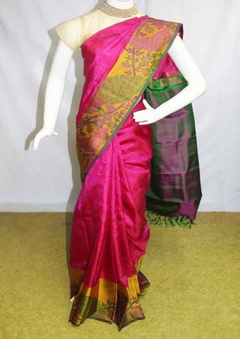 Dark Pink with GreenKanchipuram Silk Saree-ER9403 ARRS Silks