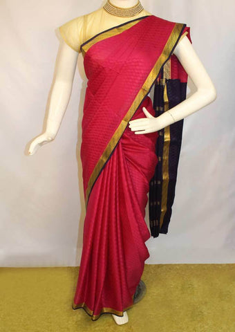 Dark Pink with Violet Mysore Silk Saree-FI10053 ARRS Silks