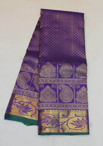 Dark Purple Wedding Silk Saree - 9KA173 ARRS Silks