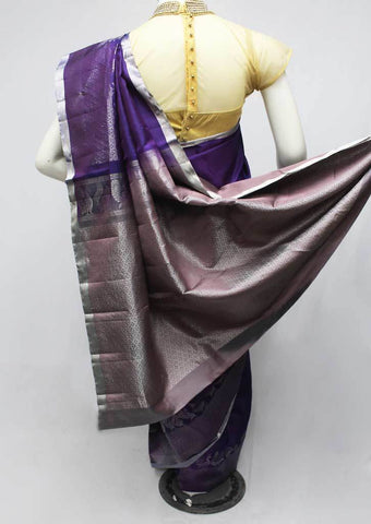 Dark Violet Soft Silk Saree -FQ111158 ARRS Silks