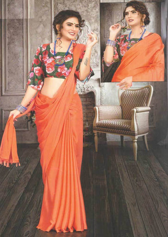 Fanta Orange Fancy Saree-FS32454 ARRS Silks