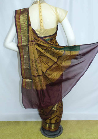 Golden with Maroon Manipuri Cotton Sarees- FP1858 ARRS Silks