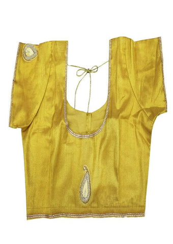 Golden Yellow Readymade Blouse-FF18938 ARRS Silks