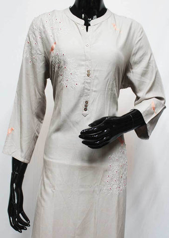 Gray Color Rayon Crep Kurti - FQ34040 ARRS Silks