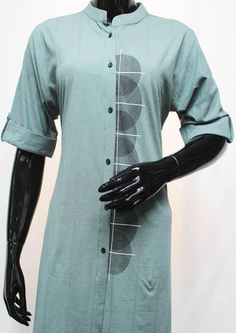 Gray Color Rayon Crep Kurti - FR73939 ARRS Silks