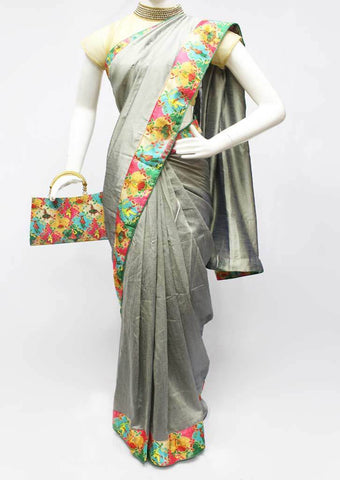 Gray Color Synthetic Saree-FR97533 ARRS Silks