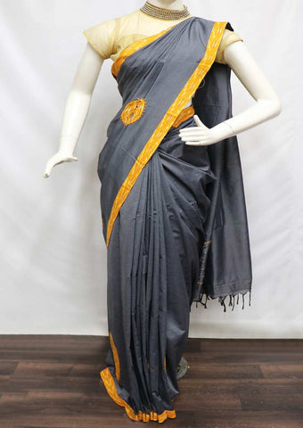 Gray Cotton Sarees- GA31464 ARRS Silks Salem