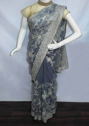 Gray Designer Saree-FN73454 ARRS Silks