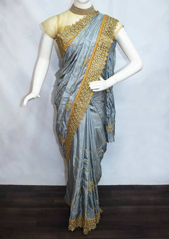 Gray Designer Saree -FO45169 ARRS Silks