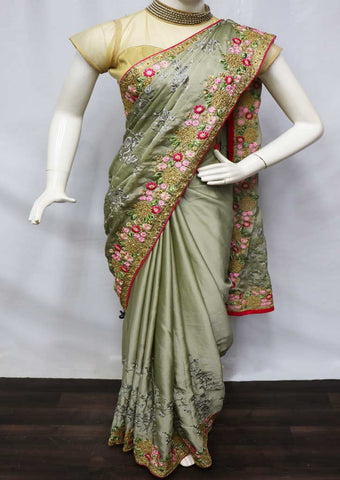 Gray Designer Saree - GA43062 ARRS Silks