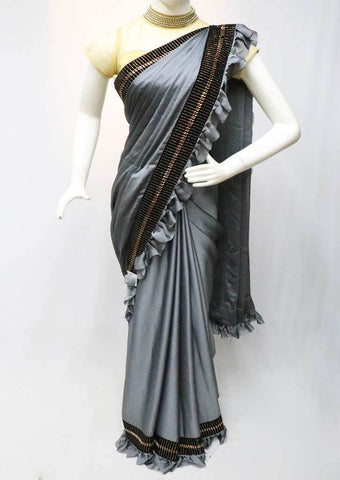 Gray Frill Fancy Saree-FR129929 ARRS Silks