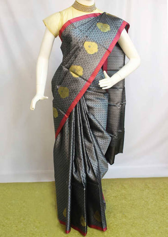 Gray Organza Cotton Sarees- F087564 ARRS Silks