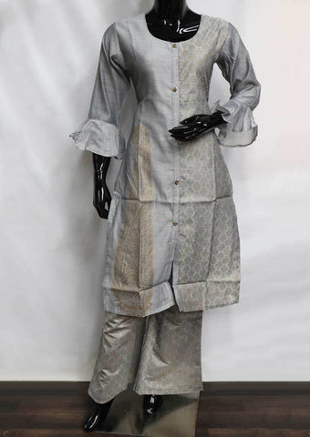 Gray Plazo Readymade Salwar- FQ33893 ARRS Silks
