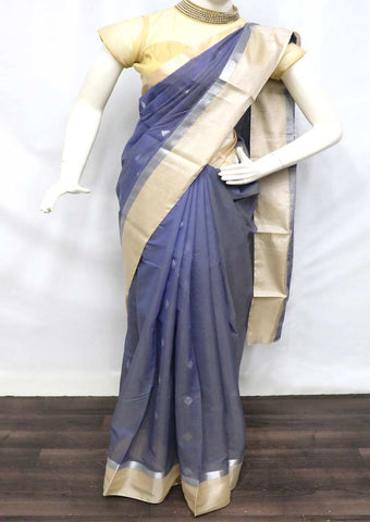 Gray Silk Cotton Saree - GD29301 ARRS Silks