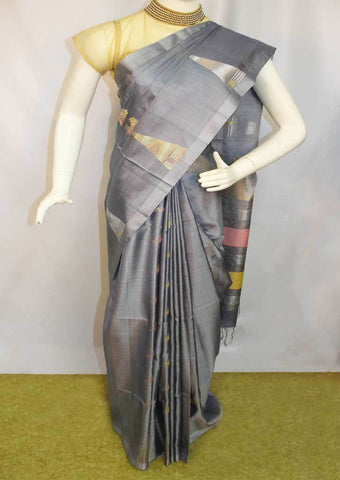 Gray Soft Silk Saree -FL84115 ARRS Silks
