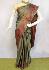 Gray Soft Silk Saree -FL85876 ARRS Silks