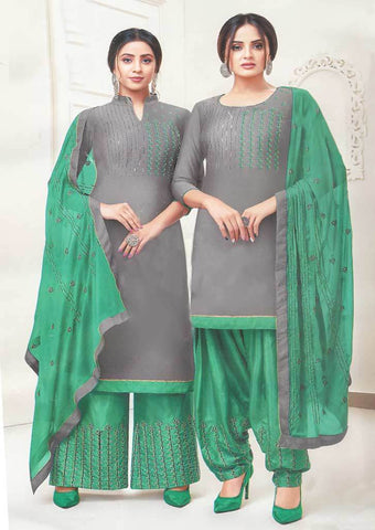 Gray Unstitched Chudi - FR87555 ARRS Silks