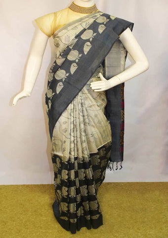 Gray With Black Juite  Silk Saree -FL84106 ARRS Silks