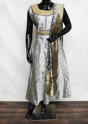 Gray with Blue Readymade Salwar- NCU56906 ARRS Silks