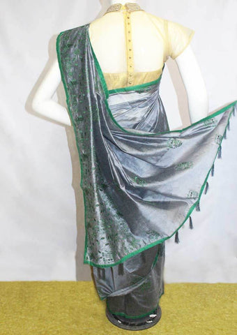 Gray with Green Fancy saree -FO6040 ARRS Silks