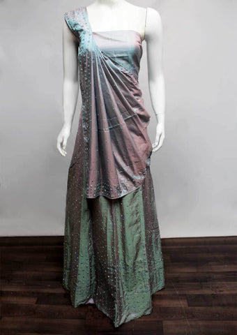 Gray with Multi Shade  Lehenga - FR77810 ARRS Silks