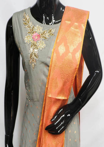 Gray with Orange  Readymade Salwar-FU47131 ARRS Silks