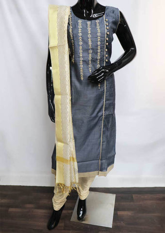 Gray with Sandal Straight Cut  Readymade Salwar-FM13700 ARRS Silks