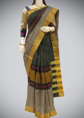 Green and Gray Chettinad Cotton ARRS Silks