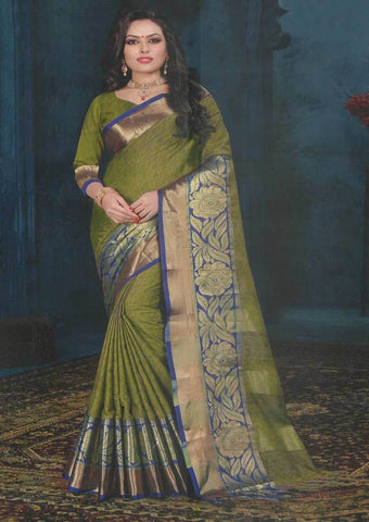 Green color Fancy saree -FQ37955 ARRS Silks