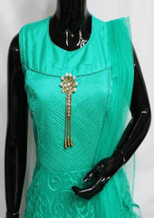Green Color Frock- FQ59965 ARRS Silks