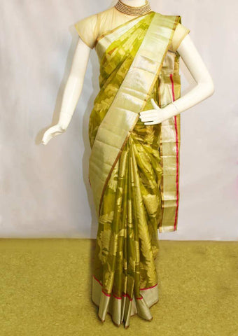 Green color organza sarees-FN44799 ARRS Silks