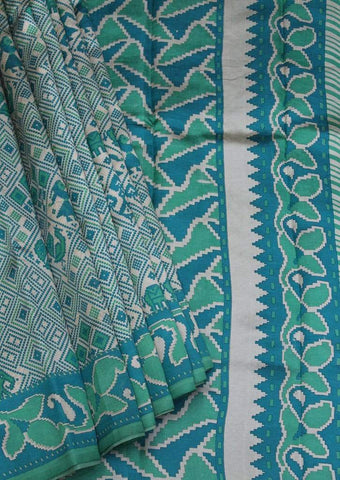 Green Color Printed Silk Saree ARRS Silks